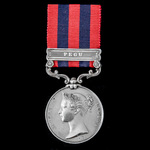   An India General Service Medal 1854-1895, 1 Clasp: Pegu, awarded to Captain P.B. Young, 19th M...