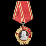 Russia – Soviet: A fine example of the Order of Lenin, type 5, variation 1, in gold, platinum and...