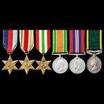 Second World War North Africa 1st Army and Italian Campaign Territorial long service group awarde...