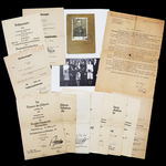 Germany – Third Reich: The Exceptional German Cross in Gold Winners Document Grouping to Oberfeld...