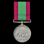 Afghanistan Medal 1878-1880, no clasp, awarded to Private George Biggs, 70th Surrey Regiment of F...