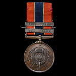 A National Fire Brigades Association Long Service Medal in Bronze for 10 Years Service, with Ten ...
