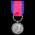 A very fine 'Household Brigade Charger' Waterloo Medal 1815, fitted with original steel clip and ...
