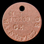 ​  A Second World War Single Identity Disc, as worn by R.G. Wasserfall (No.MSS130209), British Fo...