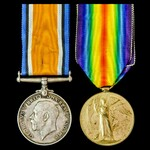 Great War pair awarded to Private M. Ridgway, Royal Berkshire Regiment, later Labour Corps.