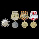 Russia – Soviet: A 1st Baltic Front Order of the Patriotic War 2nd Class and Combat Merit Medal G...