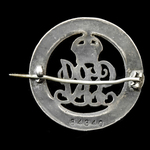Silver War Badge, reverse numberd '84340' awarded to Private W.B. Furness, 621st Company, Army Se...