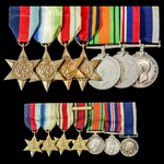 Second World War Battle of the Atlantic, Mediterranean and Far East operations long service group...