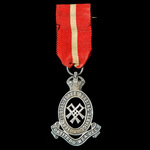 Territorial Army Nursing Service Cape Badge, silver, complete with original ribbon and wearing pin.