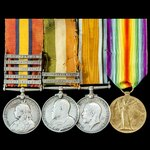 South Africa Boer War relief of Ladysmith and Great War Mesopotamia casualty group awarded to Ser...