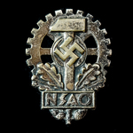 Germany – Third Reich: A Rare Example of an N.S.A.O. Badge for those handicapped whilst at work.