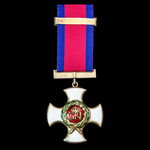 Distinguished Service Order, GVI 1st type cypher, silver-gilt and enamels, reverse of suspension ...