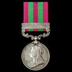 India General Service Medal 1895-1902, 1 Clasp: Punjab Frontier 1897-98, awarded to Private E. Ga...