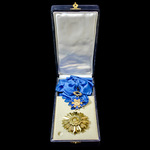 France – Republic: National Order of Merit, Grand Cross insignia in silver-gilt, comprising sash ...
