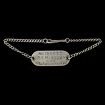 ​  A Second World War identity bracelet, as worn by the future Colonel A.R.H. Hartley, Cheshire R...