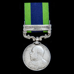 An India General Service Medal 1908-1935, EVII bust, 1 Clasp: North West Frontier 1908, awarded t...