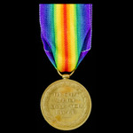 Victory Medal awarded to Private P. Brennan, Manchester Regiment.