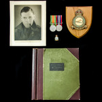 Second World War pair with a superb photo / scrap book, attributed to Flight Sergeant P. Smith, R...