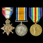 Great War 1914 Star trio awarded to Private W. Hostler, 2nd Battalion, Royal Sussex Regiment, who...