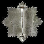Germany - Third Reich: German Cross in Gold, four rivet construction, horizontal wide flat pin, r...