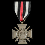 Germany - Imperial: Honour Cross 1914-1918 with Swords for Combatants, reverse makers marked: '14...