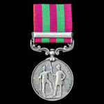 India General Service Medal 1895-1902, 1 Clasp: Relief of Chitral 1895, awarded to Private A.F. M...