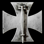 Germany – Third Reich: 1939 Iron Cross 1st Class, non-maker marked, and at some time re-painted.