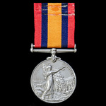 Queen's South Africa Medal 1899-1902, no clasp, awarded to Lieutenant H.E. Lovemore, Queenstown D...