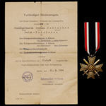 Germany - Third Reich: An unusual Civilian Award of the War Merit Cross 2nd Class with Bronze awa...