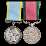 Crimean War Troop Transporting Officer's pair award to Engineer Alexander Gray, Royal Navy, who s...