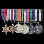 Second World War North West Europe, Palestine Jewish Revolt, and Service Medal of the Order of Sa...