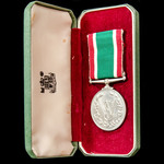 Women's Voluntary Service Medal, W.V.S., unnamed as issued, and housed in its Royal Mint fitted p...