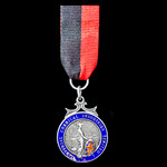   Imperial Chemical Industries Ltd 25 Years Service Medal, silver and enamels, silver hallmarks ...