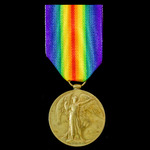 Victory Medal awarded to Private D.B. Brown, Argyll and Sutherland Highlanders, later Northumberl...