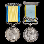 Russian War Baltic and Crimea Sebastopol and Black Sea Operations pair awarded to a member of the...