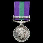 General Service Medal 1918-1962, GVI 1st type bust, 1 Clasp: Palestine 1945-48, awarded to Sapper...