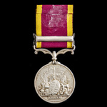 Second China War Medal 1856-1860, 1 Clasp: Taku Forts 1860, period engraved naming, awarded to Ma...