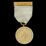 British Red Cross Society War Service Medal 1914-1918, complete with top brooch bar, unnamed as i...