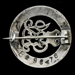 Silver War Badge, reverse numbered 'B298476' awarded to Private A.J. Leadbitter, Labour Corps, wh...