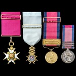 The regimentally important Field Officer's Gold Medal for Victoria with clasp for Orthes and enti...