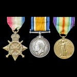 A Great War Salonika, Egypt and Palestine group awarded to Lieutenant R.J.F. Pearce, 3rd Battali...