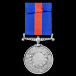 New Zealand Medal 1860-1866, undated reverse with engraved naming in serif capitals indicative of...