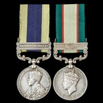 India North West Frontier Waziristan 1921-1924 and 1936-1937 pair awarded to Sepoy later Havildar...