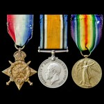 Great War Old Contemptible and Distinguished Conduct Medal recipient's 1914 trio awarded to Serge...