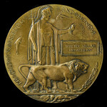 ​  A Great War Mesopotamia July 1916 Officer Casualty Memorial Plaque named to Walter Millar McLa...