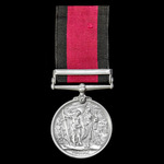 Natal Rebellion Medal 1906, with Clasp: 1906, awarded to Warder M. Shuster, Natal Police, who cam...