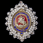 Badge of the Society of Saint George, as modelled on the Lesser George insignia of the Order of t...