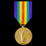 Victory Medal awarded to Private L. Randles, Liverpool Regiment.