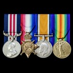 Great War Third Battle of Ypres Passchendaele Ridge August 1917 Military Medal and October 1918 c...