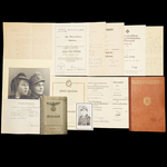 Germany – Third Reich: The Kuban Bridgehead Casualty Iron Cross 1st Class Document Grouping to Ob...